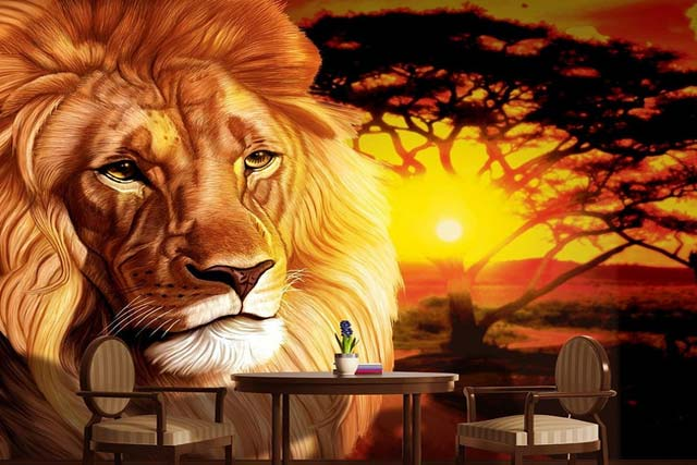 King of the Jungle Wall Mural design