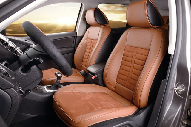 Lather car seat covers